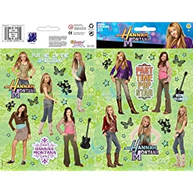 Hannah Montana Sticker Large Two-Sheet Pack 1