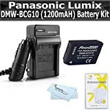 Battery and Charger Kit For Panasonic Lumix DMC-ZS7 DMC-ZS10, DMC-ZS8, DMC-ZS9, DMC-3D1, DMC-ZS20, DMC-ZS15, DMC-ZS25, DMC-ZS25K Digital Camera Includes Replacement Panasonic DMW-BCG10 Battery + More