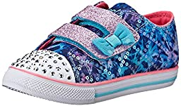 Skechers Kids Chit Chat Light-Up Sneaker (Toddler/Little Kid),Blue/Multi,8 M US Toddler