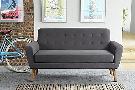 MY-Furniture SEXTON Fumo - Divano a due posti