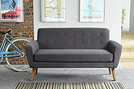 MY-Furniture SEXTON 2-Sitzer Sofa - Smoke