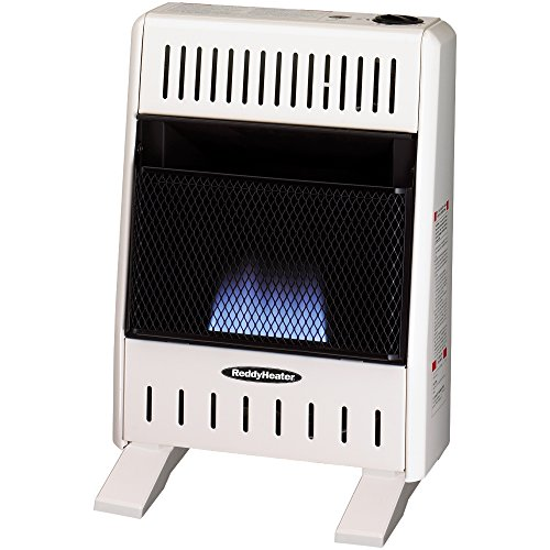 Sure Heat BWH10BFNG Manual Natural Gas Flame Wall or Floor Mount Heater, 10K BTU, Beige/Tan/Blue (Natural Gas Floor Heater compare prices)