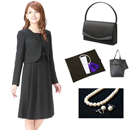 (マーガレット)marguerite m705 7点セット バッグ・ネックレス・イヤリング・ふくさ・ハンカチ・数珠・折畳トート ブラックフォーマル レディース パンツ スカート スーツ 高級 礼服