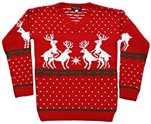 Ugly Christmas Sweater - Humping Reindeer Games Holiday Sweater in Red