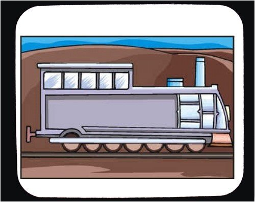 Decorated Mouse Pad with machine, locomotive, Turkey, moving,