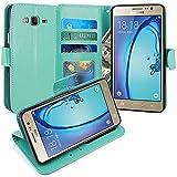 Galaxy On5 Hülle, LK Luxus PU Leder Brieftasche Flip Case
