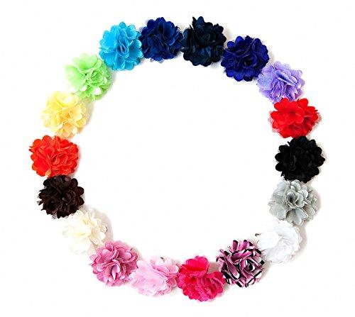 Ema Jane - Mini Mesh Satin Hair Flower Clips (18 Pack) front-322322