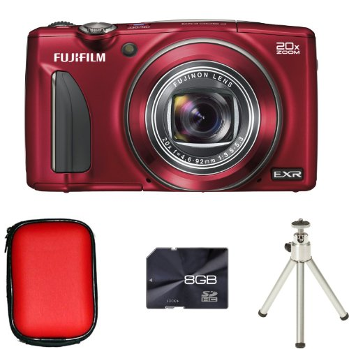Fujifilm FinePix F900EXR - Red + Case + 8GB Card and Tripod (16MP Black Friday & Cyber Monday 2014