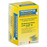 Preparation H Medicated Wipes, Maximum Strength Formula, with Aloe, 2 - 48 count pouches 96 wipes
