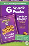 Annie's Homegrown Cheddar Bunnies Baked Crackers, 1-Ounce Snack Packs in 6-Count Boxes (Pack of 6)