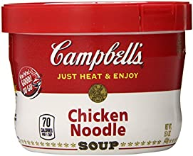 Campbells Microwavable Bowl Chicken Noodle Soup 154000-Ounces Pack Of 8