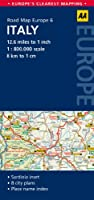 AA Road Map Italy (Road Map Europe 6) (AA Road Map Europe)