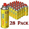28 Pack Butane Gas Canisters