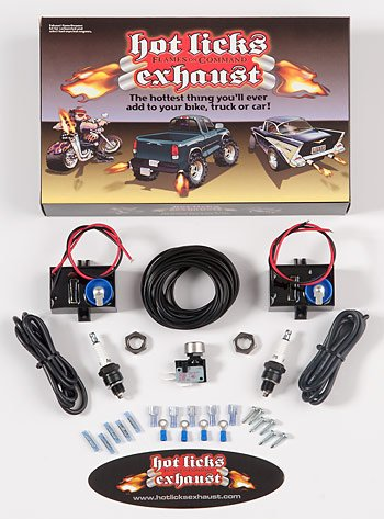 Hot Licks Dual Exhaust Flamethrower Kit for Automobiles or Motorcycles (Flamethrower Kit Dual Exhaust compare prices)