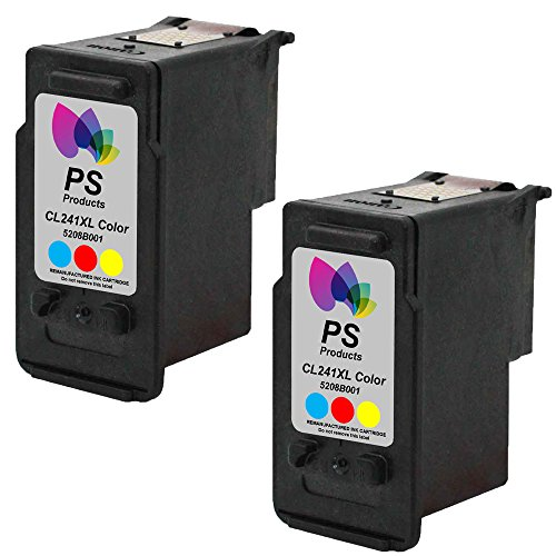 PS Products TM Remanufactured Ink Cartridge Replacement for Canon CL-241XL High-Yield (2 Color) (Show Accurate Ink Levels)