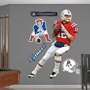 NFL New England Patriots Tom Brady Throwback Wall Graphics by Fathead