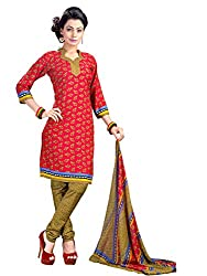 Fashion Queen Presents Rani Pink Colored Unstitched Dress Material
