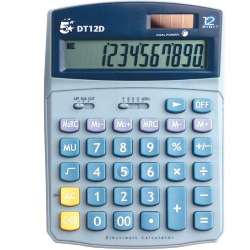 septy shop 5 etoiles dt12d calculatrice de bureau 12 chiffres. Black Bedroom Furniture Sets. Home Design Ideas
