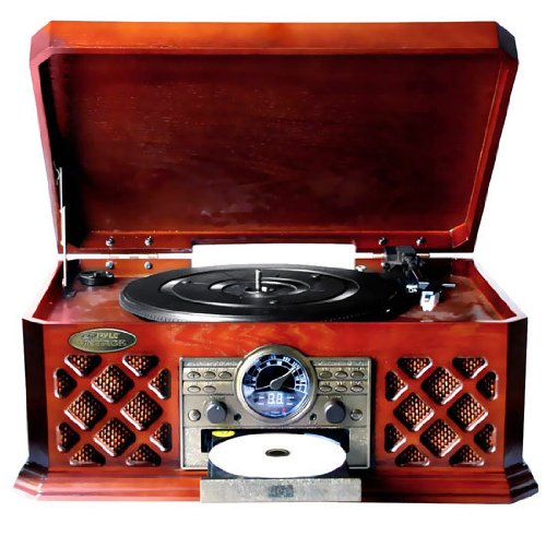 Bluetooth Wireless Streaming Classic Retro Style Record Player Turntable