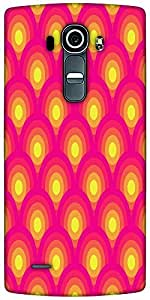 Snoogg Circular Red Pattern 2526 Designer Protective Back Case Cover For LG G4