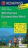 Wörthersee - Karawanken West: Wanderkarte mit Kurzführer, Panorama, Radwegen, Skitouren und Loipen. GSP-genau. 1:50000 (KOMPASS-Wanderkarten, Band 61)
