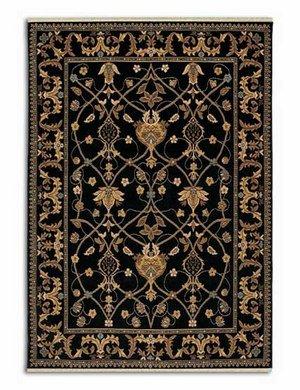 Karastan English Manor Collection William Morris Black 2'6
