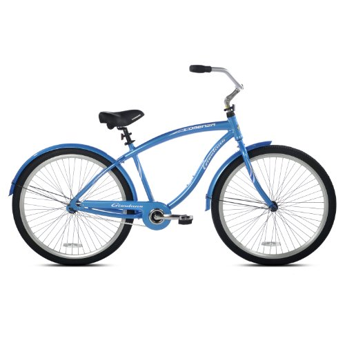 Giordano Men's Liscio Beach Cruiser Bike (Blue, 29-Inch)