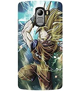 Evaluze goku Printed Back Case Cover for LENOVO K4 NOTE