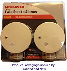 Kidde 9040eu Twin Pack Micro Smoke Alarms from KIDDE