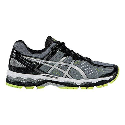 ASICS Men's Gel Kayano 22 Running Shoe, Charcoal/Silver/Lime, 11 M US