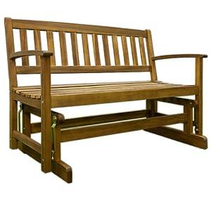 Balancelle banc meuble de jardin en bois exotique patudon for Banc de jardin en bois exotique