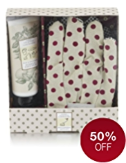 Floral Collection Garderners Balm & Glove Gift
