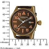 Stuhrling Original Men's 141EA.3365K59 Eagle Flyer Swiss Quartz Brown Dial Watch