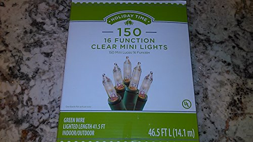 holiday-time-150-clear-mini-lights-16-function-w-spare-parts-too