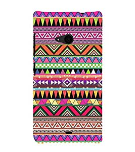 Abstract Color Pattern 3D Hard Polycarbonate Designer Back Case Cover for Nokia Lumia 535 :: Microsoft Lumia 535