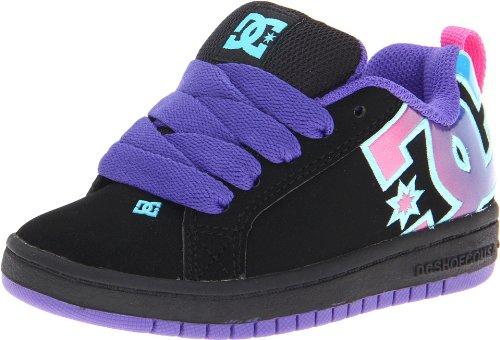 Dc Kids Court Graffik Se Sneaker (Little Kid/Big Kid),Black/Fluorescent,5 M Us Big Kid front-1042656