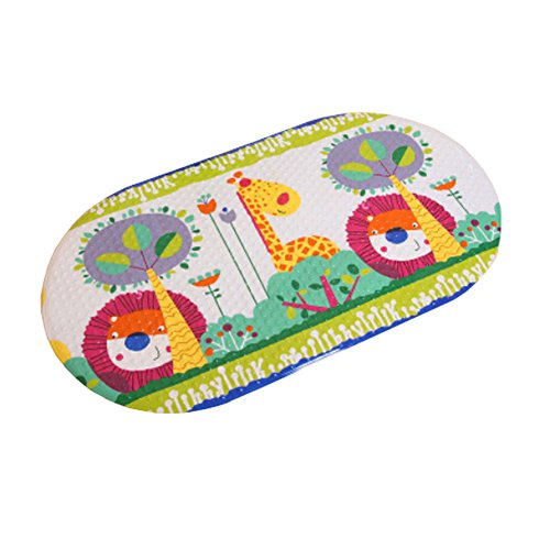 Lovely Hide and Seek PVC Non-Slip Bath Mat with Suction Cups White