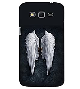 PrintDhaba Feathers D-2093 Back Case Cover for SAMSUNG GALAXY GRAND 2 (Multi-Coloured)