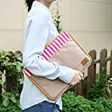 MacBook Air 11 Inch Wenziday Better Together Sailor A4 Sized Organizer Pouch (Beige / Pink)