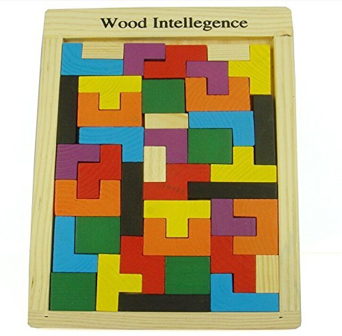 World Famous Wooden educational jigsaw puzzle toys woolpuzzles gift Tetris GameStyle Wooden Building children's educational toys