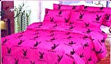51b NwqADZL. SL160  Playboy KING Size 6pc Egyptian Bed Sheet Set, Deep Pocket