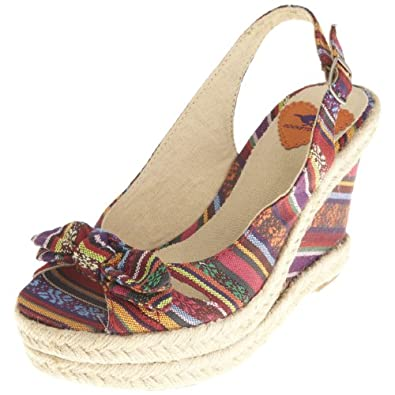 Rocket Dog Women's Miller Poncho Multi Wedge Heel 8 UK