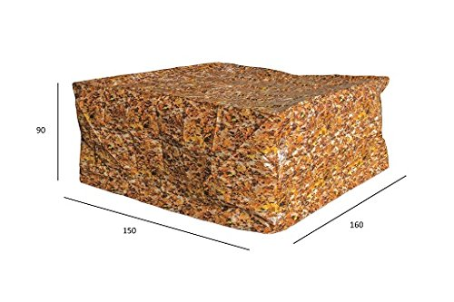 Luxus Schützhülle für Gartenmöbel-Set 120 cm , Schutzabdeckung mit einzigartigem Herbstblatt Druck, Schwerlast 220 gr/m2 günstig kaufen