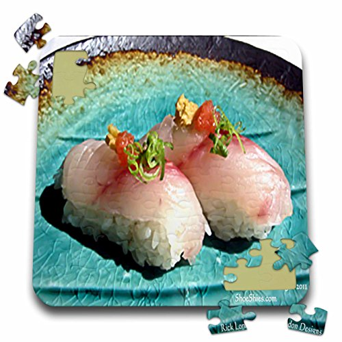 Rick London Fine Art Sushi Gifts - Scrumptious Pieces Of Sushi - 10x10 Inch Puzzle (pzl_25816_2)