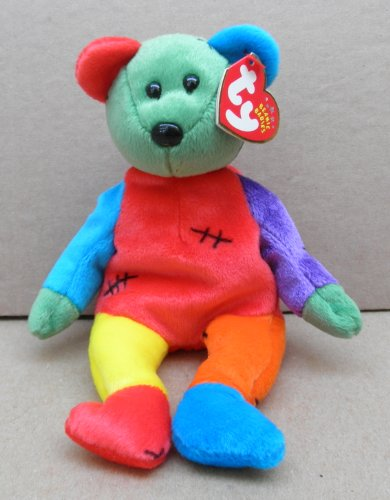 TY Beanie Babies Frankenteddy the Bear Stuffed Animal Plush Toy - 8 1/2 inches tall - 1