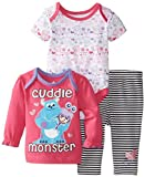 Disney Baby Baby-Girls Cuddle Monster 3 Piece Pant Set, Multi, 6/9 Months