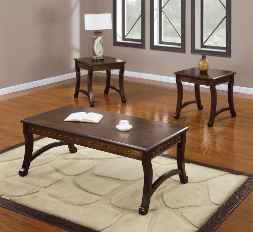 Slate Coffee And End Table Set: Buy Low Price Acme 80166 3-Piece Benicia Coffee/End Table