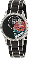 Ed Hardy Women's JA-BK Quartz Watch with Black Dial