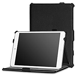 MoKo Slim-Fit Multi-angle Folio Cover Case for Apple iPad Mini 7.9 Inch Tablet BLACK(with Smart Cover Auto Wake/Sleep Feature)
