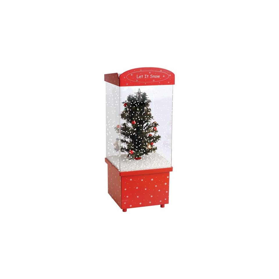 Let It Snow Christmas Tree Snow Globe